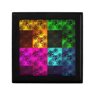 Floral light and shaded jewelry box. gift box