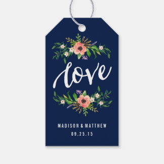 Floral Love in Navy | Wedding Gift Tags
