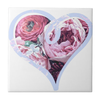 Floral Love Small Square Tile