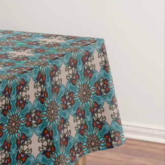 Floral mandala abstract pattern design tablecloth