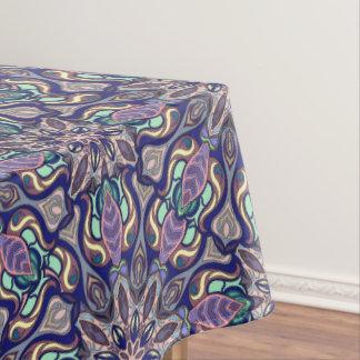 Floral mandala abstract pattern design tablecloth