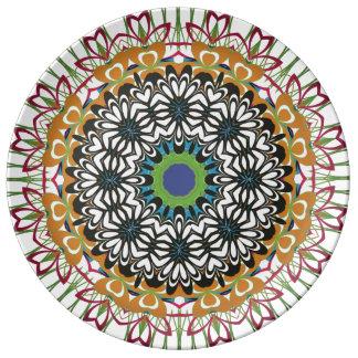 Floral Mandala Decorative Porcelain Plate