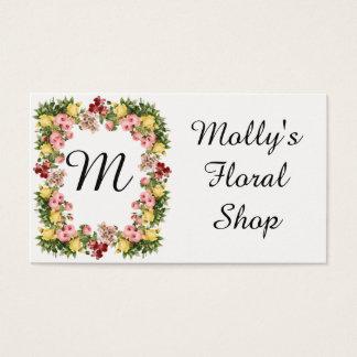 Floral Monogram Business Card