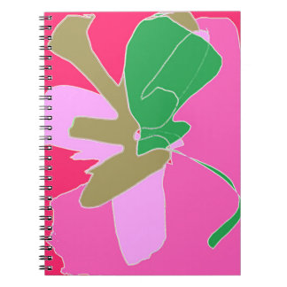 Floral Notebooks with original abstract art