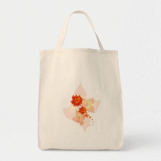 floral ornament orange sun bags