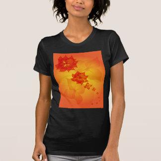 floral ornament orange sun shirt