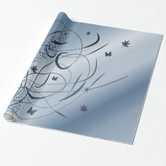 floral ornament wrapping paper