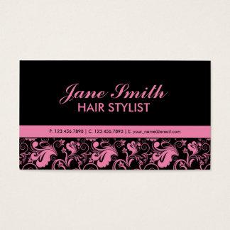 Floral Pattern Elegant Hairdresser Stylist Salon