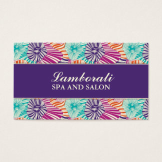 Floral Pattern Elegant Hairdresser Stylist Salon Business Card
