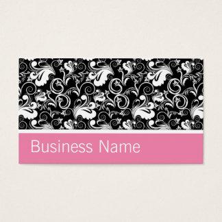 Floral Pattern Elegant Hairdresser Stylist Salon Business Card