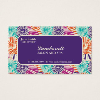Floral Pattern Elegant Stylist Salon Hairdresser Business Card