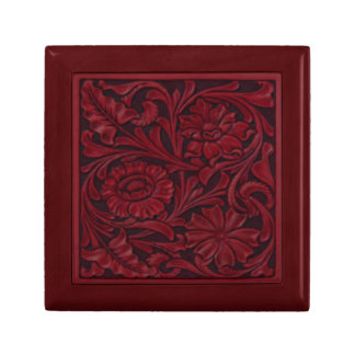 Floral Pattern in Red Gift Box