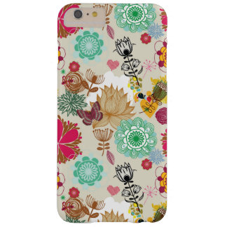 Floral pattern in retro style barely there iPhone 6 plus case