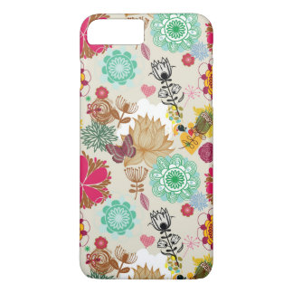Floral pattern in retro style iPhone 7 plus case