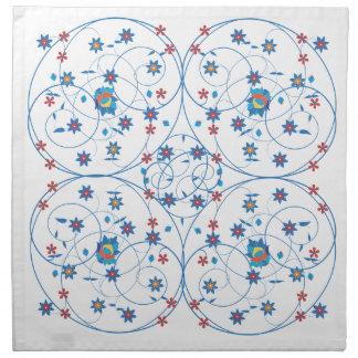 Floral pattern in turkish style napkin