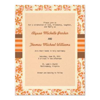 Floral Pattern Invitation (Orange)