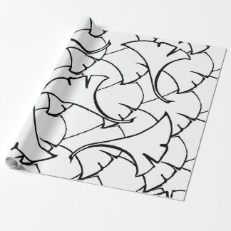 """floral pattern Matte Wrapping Paper, 30"""" x 30' Wrapping Paper"""