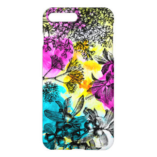 Floral Pattern Watercolor Yellow Pink & Blue iPhone 8 Plus/7 Plus Case