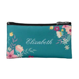 Floral Personalized Handbag Makeup Bag