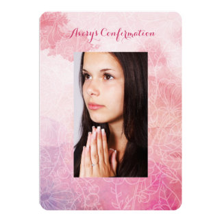 Floral Photo Confirmation Card