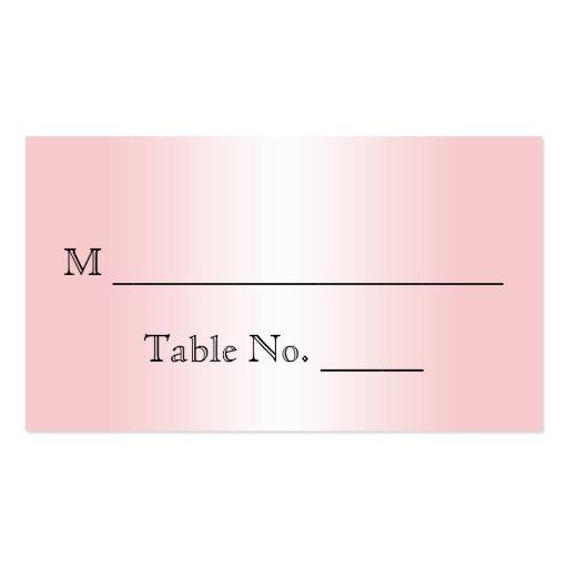 Floral Pink Vintage Wedding Place Cards Business Card