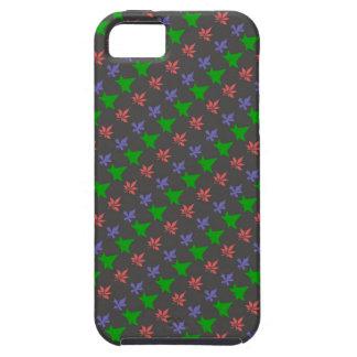 Floral Purple, Green, Orange Leaves Pattern iPhone 5 Covers