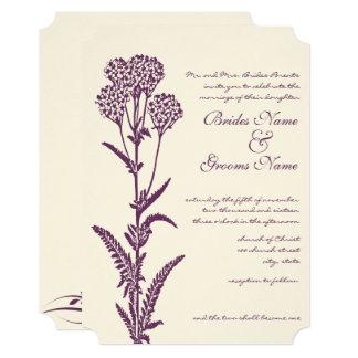 Floral Purple Religious Wedding Invitation