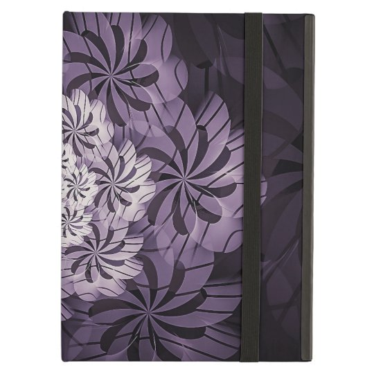 Floral Purple Striped Fractal Art, iPad Air Case