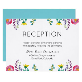 Floral Reception Card