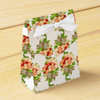 Floral Romantic Wedding Favors Customizable Favour Box