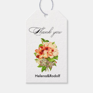Floral Romantic Wedding Favors Customizable Gift Tags