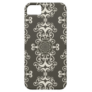 Floral rose damask swirl wallpaper pattern case