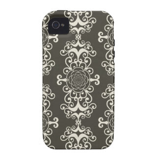 Floral rose damask swirl wallpaper pattern case iPhone 4 case