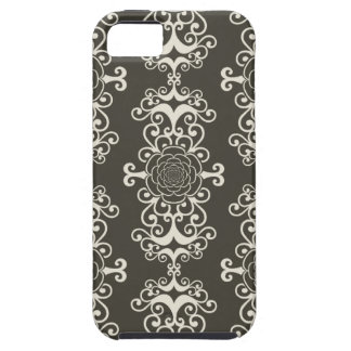 Floral rose damask swirl wallpaper pattern case iPhone 5 cases