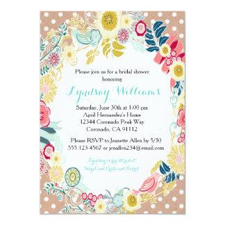 Floral Rustic Bridal Shower Invitation