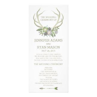 FLORAL | RUSTIC WEDDING WEDDING PROGRAM PERSONALIZED RACK CARD