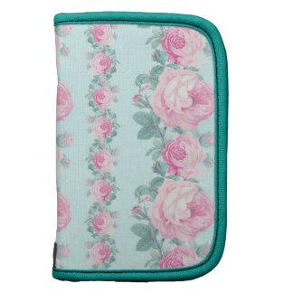 Floral shabby chic mini folio roses folio planner