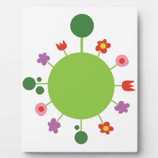 Floral Sphere Plaque