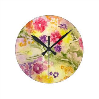 'Floral Splash' Clock