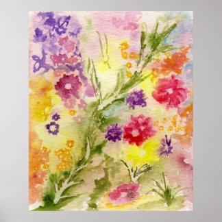 'Floral Splash' Poster