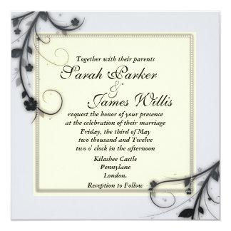 Floral Square wedding Invites [Award winner]