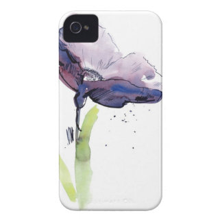 Floral summer design with hand-painted abstract iPhone 4 cover