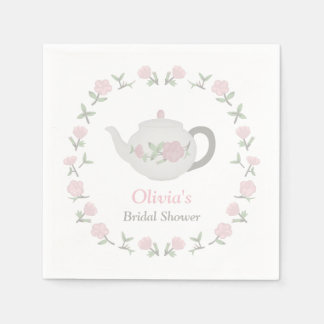 Floral Tea Party Bridal Shower Party Supplies Disposable Serviette