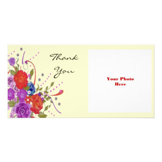 Floral Thank You Photo Greeting Card