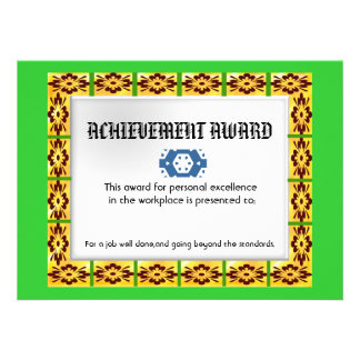 floral tile award custom invites
