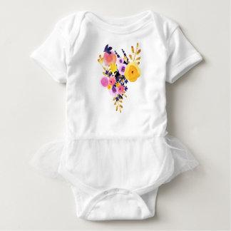 Floral Tutu Baby Bodysuit