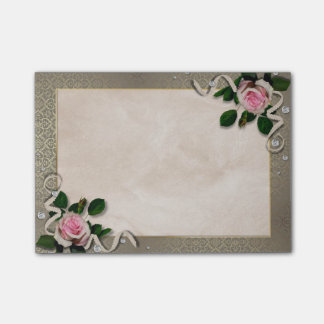 Floral vintage decoration post-it® notes