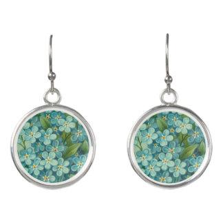 Floral vintage drop earrings w/ beautiful flowers