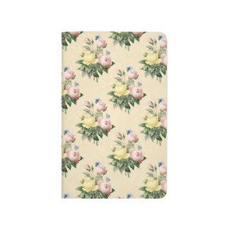 Floral vintage rose flower pattern journal