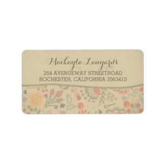 Floral Vintage Wedding Address Label